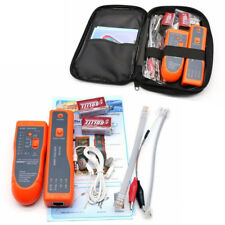 WIRE CABLE TRACER TONE GENERATOR FINDER PROBE TRACKER NETWORK TESTER + CASE BOX