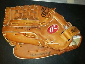 "Rawlings 14"" RSGXL Leather Softball Glove LHT"
