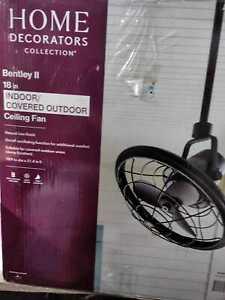 """Home Decorators Bentley II 18"""" In/Outdoor Natural Iron Oscillating Ceiling Fan"""