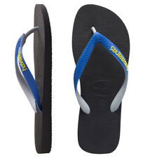Havaianas Toddler Boys Classic Top Mix Sandals Black Blue 7/8 New
