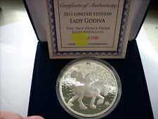5 OZ SILVER COIN PROOF STEVE FERRIS *LADY GODIVA* NUMBERED WITH COA ONLY 500
