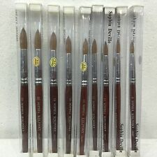 sophia Red Wood 100% real Kolinsky Acrylic Nail Brush Round all size 6 - 22