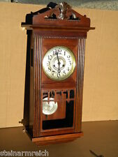 1900 GUSTAV BECKER GB Silesia JUGENDSTIL WANDUHR PENDELUHR Art Nouveau Nuß Uhr