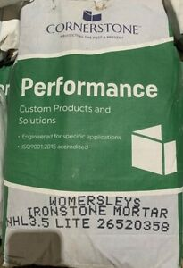 Womersleys Ironstone Lite Lime Mortar NHL 3.5 Based Pre Mixed 25kg Bag