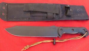"""KA-BAR BK9 Becker Fixed Combat Bowie Knife 9"""" Carbon Grivory handles"""
