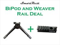 Bi Pod - SmartRest - Quick Release Bi Pod - Includes 1 x SmartRest Weaver Rail