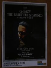 G-Eazy - The Beautiful & Damned Tour - Glasgow may 2018 concert gig poster