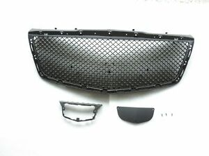 Matte Black Mesh Upper Grille For 2015 2016 2017 2018 Cadillac CTS