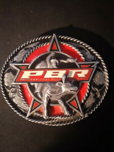 Pro bull Riders PBR Belt buckle Mint Condition Heavyweight Rodeo Western