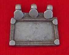 Ancient Tribal Old Silver Jewellery Pendant India