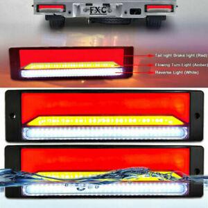 LED TRAILER TAIL LIGHTS TRUCK CARAVAN UTE BOAT LIGHT Waterproof 2pcs