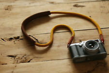 Windmup Shoulder pad brown leather Climbing rope 10mm handmade Camera strap