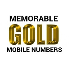 EASY MEMORABLE GOLD MOBILE NUMBERS O2 VODAFONE EE THREE PAY AS YOU GO SIM CARD