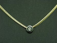 14kt 585 Bicolour Gold Necklace with Brilliant Decorations/Diamond/5,5g/38 CM