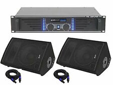 "QTX QT10M Passive Stage Wedge Monitor Foldback 1"" Band PA System Speaker Package"