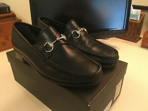 Mens Black Gucci Shoes with buckle 8 D