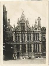 Photo Argentique Belgique Bruges Vers 1900