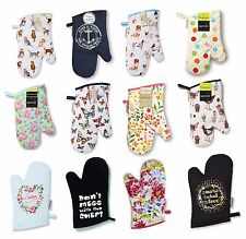 Single Oven Gloves Kitchen Cooking Pot Holder Thick Heat Resistant Mitt Mittens
