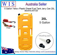 20L Off-road Vehicle Spare Fuel Tank Plastic Jerry Can w Free Ratchet Tie Down