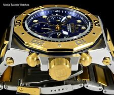 Invicta 52mm Akula Quartz Chronograph Blue Dial GoldTone Two Tone Bracelet Watch