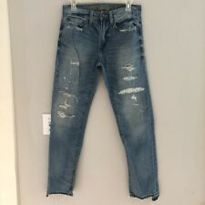 American Eagle Mens Slim Distressed Destroyed Ripped Jeans 28x30 Med Wash