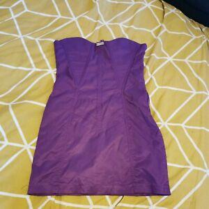 Vintage Corset Betty Blue Purple Long Dress Corset Size 16