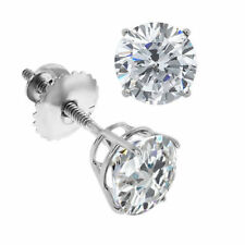 .50ct 1/2ct G/VS2 ROUND CUT GENUINE DIAMONDS 14K GOLD STUDS EARRINGS