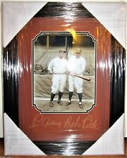 1927 BABE RUTH, LOU GEHRIG LASER AUTO 16x20 YANKEES FRAMED DISPLAY AUTOGRAPH NEW