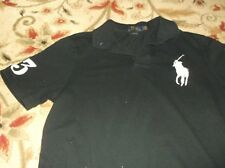 Men's,Black Polo Ralph Lauren Big Pony Polo/Rugby Shirt,Size Large, Classic Fit