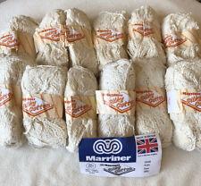 "Vintage Marriner Silky Cotton. Cream ""Aran"" (12x50g) Knitting Wool/Yarn**"
