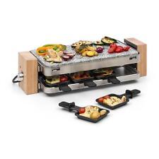 Appareil à raclette 8 poêlons Grill de table 1500W Plancha pierre granit naturel