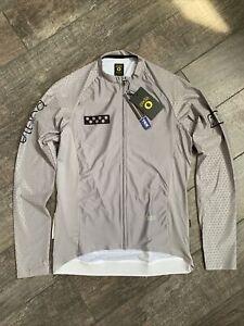 Pedla Cycling LunaHEX Long-Sleeve Jersey Large L - Etch Grey