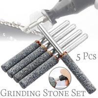 5 Pcs Diamond Grinding Stone Chainsaw Chain Sharpener Burr Stone Mini Grinder