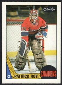 PATRICK ROY 1987-88 O-PEE-CHEE MONTREAL CANADIENS #163