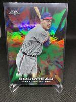 2018 Topps Fire Baseball Green 015/199 Lou Boudreau (Cleveland Indians)