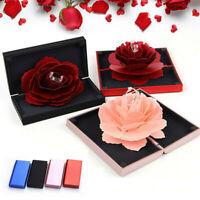 3D Pop Up Rose Ring Storage Box Wedding Engagement Jewelry Holder Case Bump Case