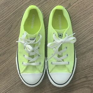 Converse All Stars Kids Unisex Sneakers Size 3 Fluro Yellow BRAND NEW