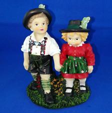 [MI10] Oktoberfest Bayern Alpen Trachten Paar Poly Deko Figur 12 cm