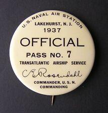 Airship Hindenburg 1937 Lakehurst Official Personnel ID Badge