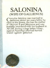 SALONINA, WIFE OF GALLIENUS 258 - 268 AD BILLIONN ANTONINIANUS