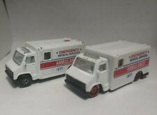 Lot Of 2 Maisto Emergency Ambulance Trucks Diecast 1/64