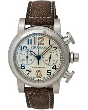 Graham Vintage Silverstone Vintage 44 Chronograph Watch - 2SABS.W01A.L18S