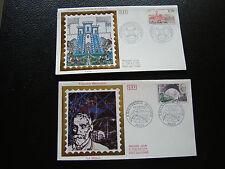 FRANCE - 2 enveloppes 1er jour 1987 (congres lens/f bienvenue) (cy78) french