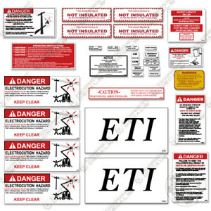ETI ETC35SNT Decal Kit Bucket Truck - Warning Stickers - 3M Vinyl!