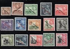 Malta Sc 208-22 1948 G VI Self Government  long stamp set mint Free Shipping
