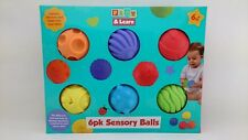 Play & Learn Baby Sensory Balls Toy 6 Pack, 6+ Months