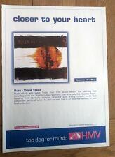 RUSH Vapor Trails (HMV) 2002 magazine ADVERT/Poster/clipping 11x8 inches