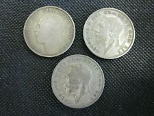 Lot Of 3 Great Britain Half Crown Silver Coins