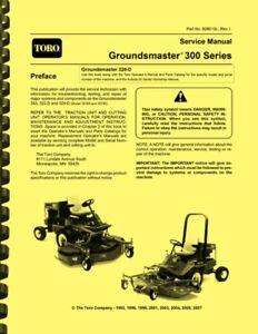 Toro Groundsmaster 300 Series 345 322D 325D 328D SERVICE MANUAL