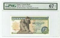 COLLECTIBLE EGYPTIAN: 25 Pia 1967-75 P#42 SUPERB GEM UNC PMG 67 EPQ